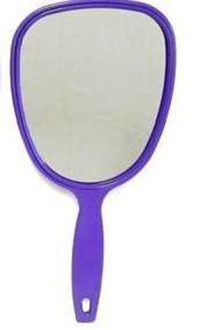 Plastic Hand Mirror Purple