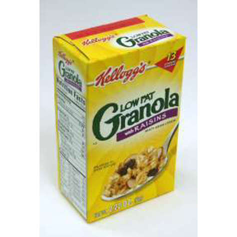 Picture of Kellogg's Low Fat Granola with Raisins Cereal (box) (19 Units)
