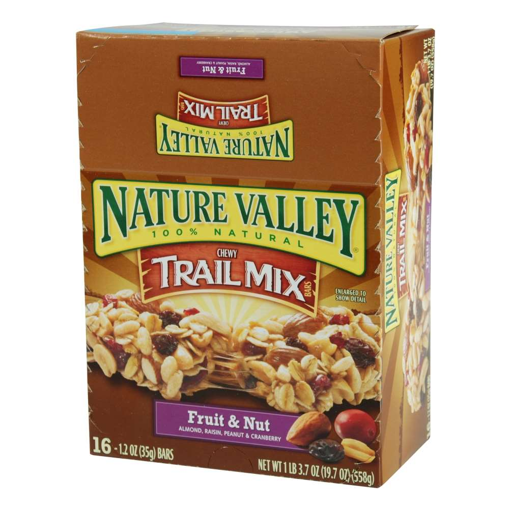 Nature Valley Fruit & Nut Granola Bars Whole Grain 1.2 ...