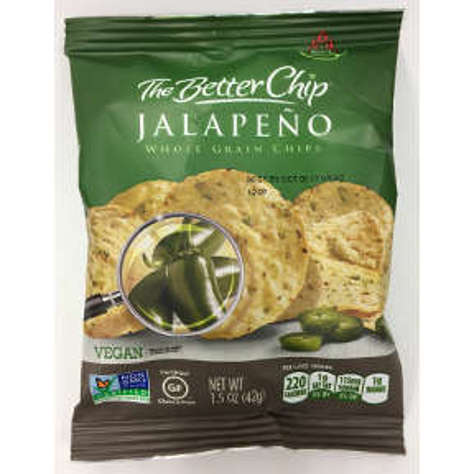 Picture of The Better Chip Spicy Jalapeno Whole Grain Chips 1.5 oz. (20 Units)