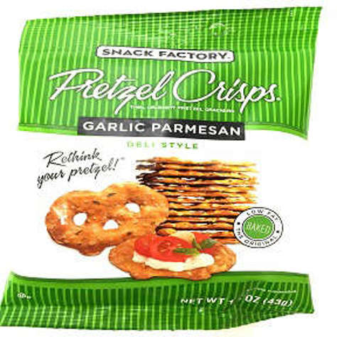 Picture of Snack Factory Pretzel Crisps Garlic Parmesan (16 Units)