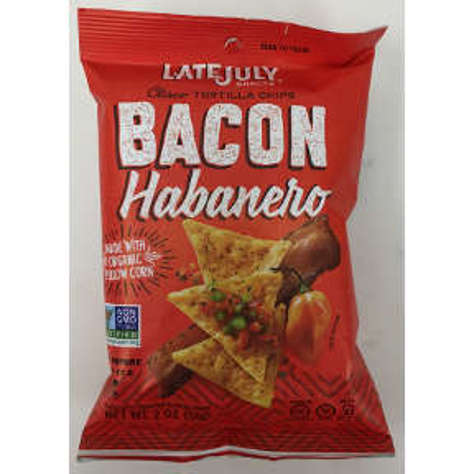 Picture of Late July Clasico Tortilla Chips Bacon Habanero (14 Units)