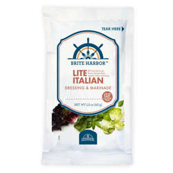 Picture of Brite Harbor Lite Italian Dressing, Packets, 1.5 Fl Oz Package, 60/Case
