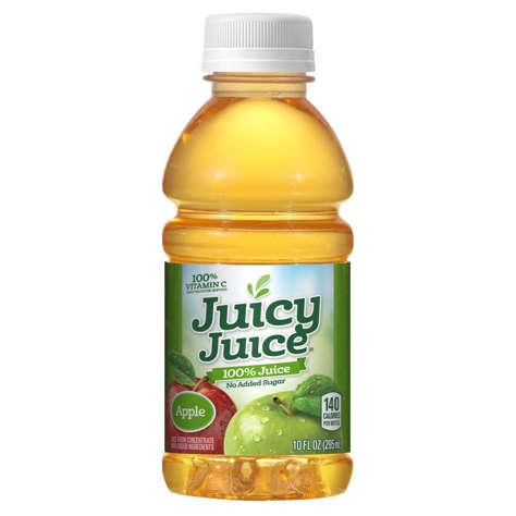 Picture of Juicy Juice 100% Apple Juice, Shelf-Stable, Single-Serve, 10 Fl Oz Bottle, 24/Case