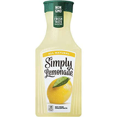 Picture of Simply All Natural Non-GMO Lemonade Beverage, 52 Fl Oz Bottle, 6/Case