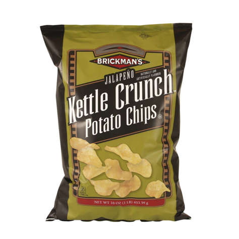Picture of Brickman's Kettle Jalapeno Potato Chips, Bulk, 16 Oz Bag, 9/Case