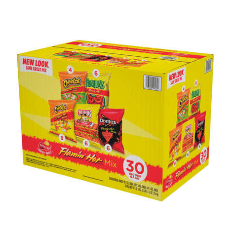 Picture of Frito Lay Flamin' Hot Mix Variety Chips, 30 Ct Tray, 1/Case