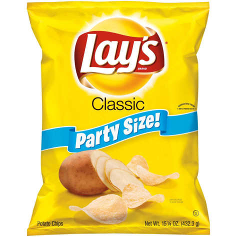 Picture of Lays Classic Party Size Potato Chips, 15.25 Oz Bag, 1/Bag