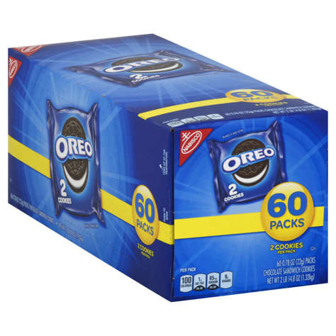 Picture of Nabisco Oreo Cookies, Shelf-Stable, Individually Wrapped, 2 Ct Package, 120/Case