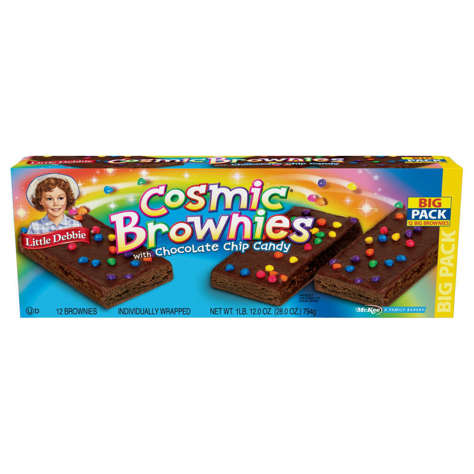 Picture of Little Debbie Fudge Icing Chocolate Chip Candy Pieces Brownies, Chewy, Individually Wrapped, 13.1 Oz Each, 1/Box