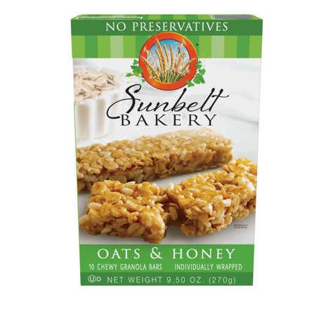 Picture of Sunbelt Bakery Oats & Honey No Preservatives Granola Bars, 9.5 Oz Box, 1/Box
