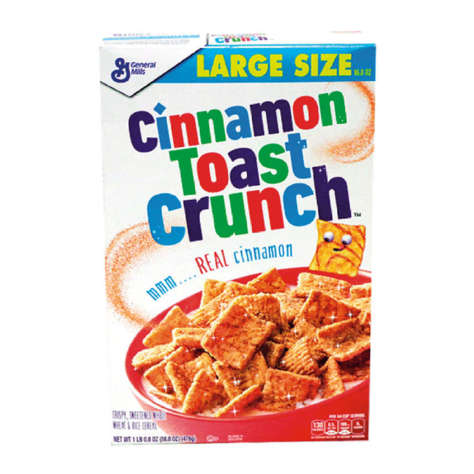 Picture of General Mills Cinnamon Toast Crunch Cereal, 16.8 Oz Box, 10/Case