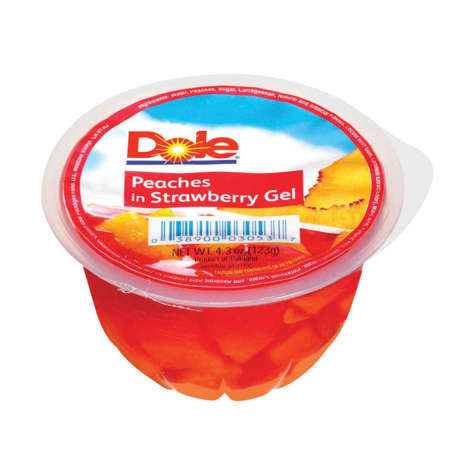 Picture of Dole Peaches in Strawberry Gelatin, Fancy, 4.3 Oz Each, 36/Case
