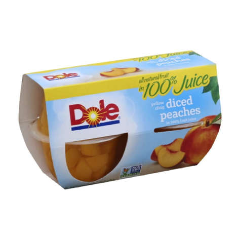 Picture of Dole Peaches in Light Syrup, Cup, 4 Pk, 6/Case