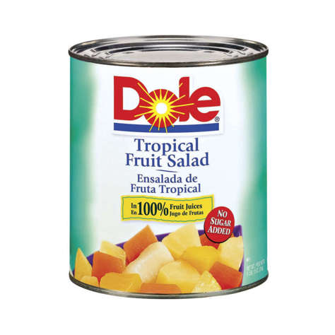 Picture of Dole Tropical Fruit Salad in Light Syrup, #10, 10 Can Sz Can, 6/Case
