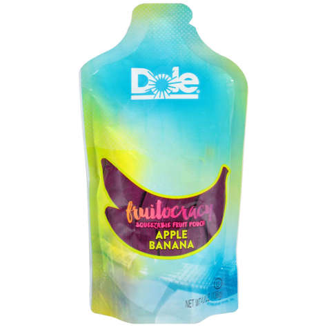 Picture of Dole Fruitocracy Banana Applesauce, Shelf-Stable, Pouch, 4.8 Oz Package, 50/Case