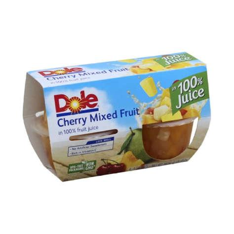 Picture of Dole Cherry Fruit Mix, Bowl, 4 Pk, 6/Case