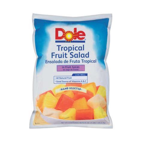 Picture of Dole Tropical Fruit Salad in Juice, Pouch, 81 Oz Each, 6/Case