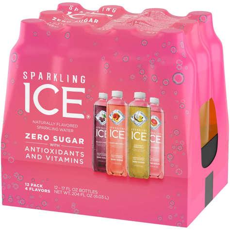 Picture of Sparkling Ice Variety Zero Sugar Sparkling Water, 17 Fl Oz Bottle, 12/Case