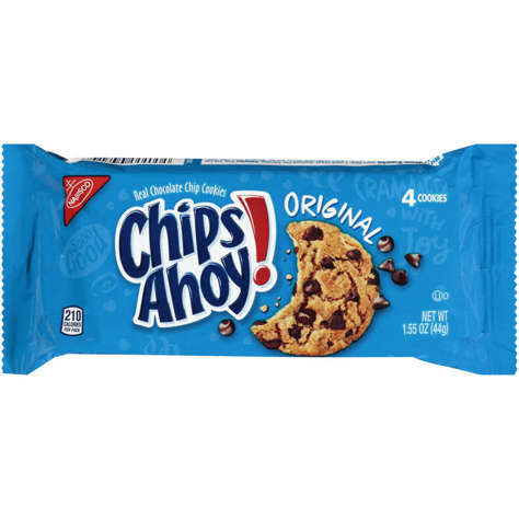 Picture of Chips Ahoy Chocolate Chip Cookies, Shelf-Stable, 12 Ct Box, 4/Case