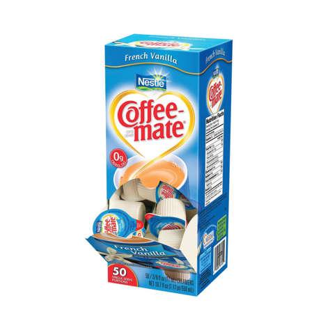 Picture of Coffee mate French Vanilla Non-Dairy Liquid Creamer Cups, Shelf-Stable, Single-Serve, 50 Ct Box, 4/Case