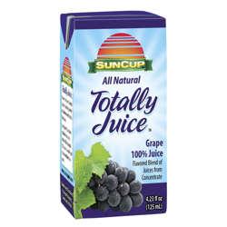 Picture of Suncup 100% Grape Juice Box, Shelf-Stable, Single-Serve, 4.23 Fl Oz Carton, 40/Case