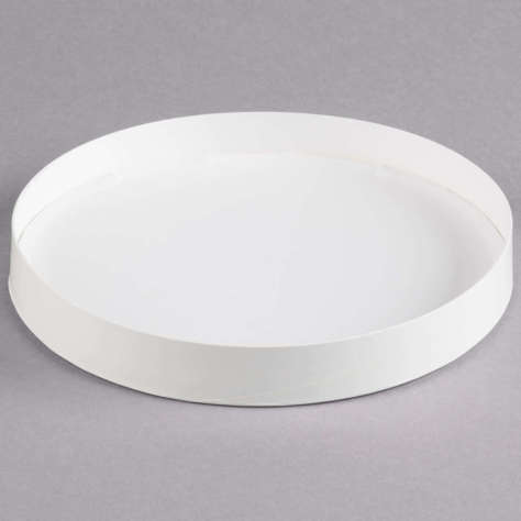 Picture of Double-Wall Poly White Paper Soup / Hot Food Cup Lid 64 oz. 50/case